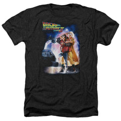 Back To The Future Ii Poster Adult Regular Fit Heather T-Shirt