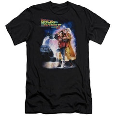 Back To The Future Ii Poster Premium Adult Slim Fit T-Shirt