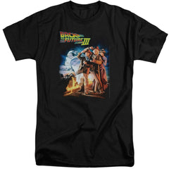 Back To The Future Iii Poster Adult Tall Fit T-Shirt