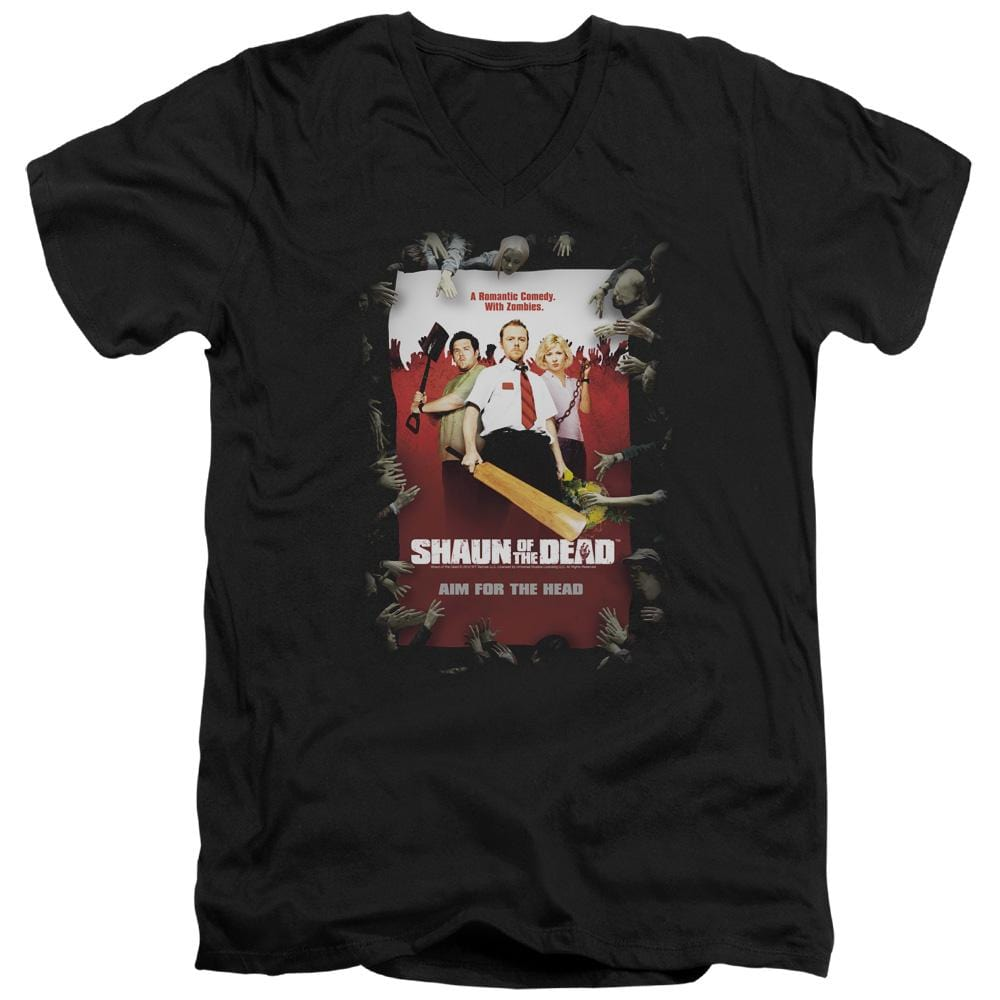 Shaun Of The Dead - Poster Adult V-Neck T-Shirt