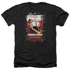 Shaun Of The Dead Poster Adult Regular Fit Heather T-Shirt
