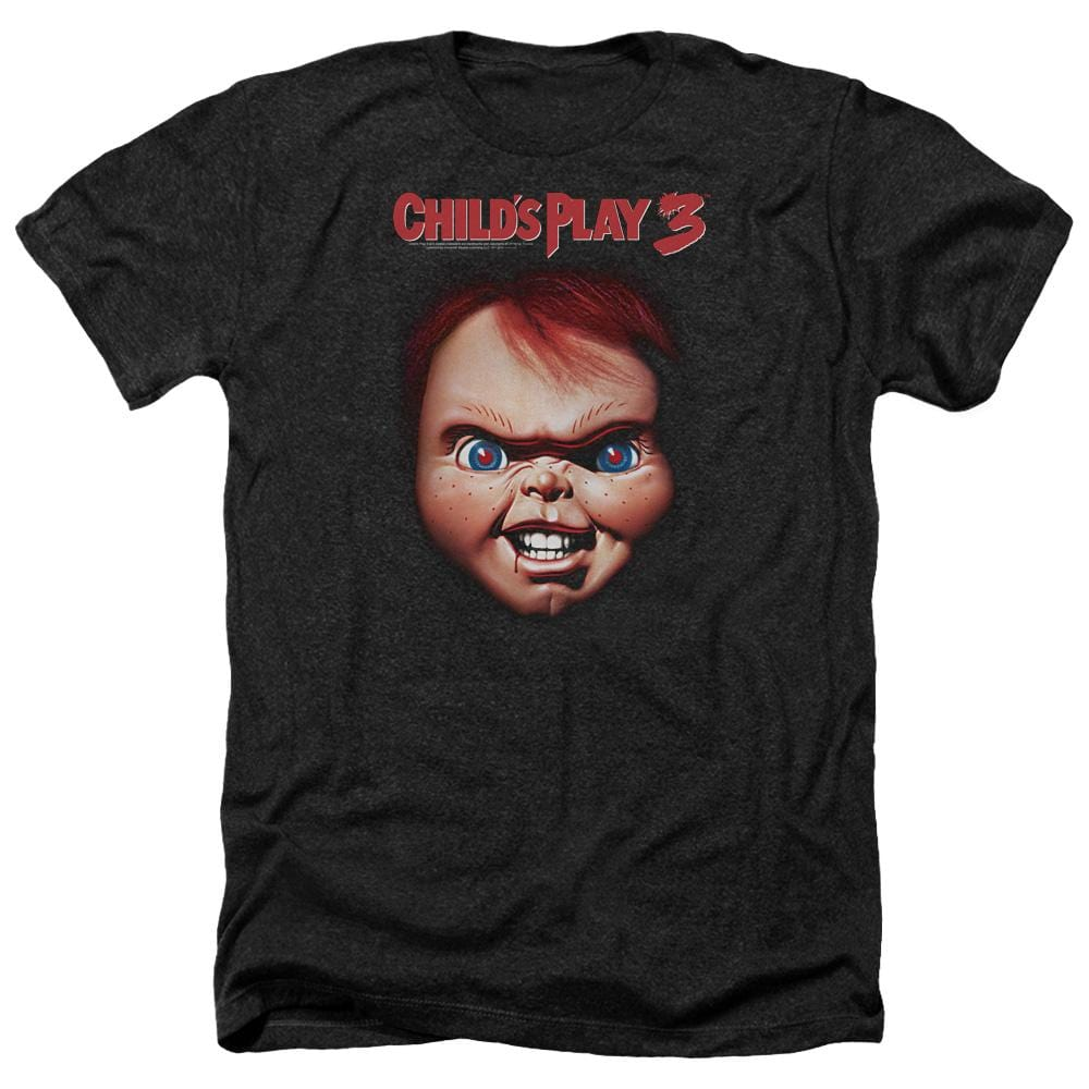 Childs Play 3 Chucky Adult Regular Fit Heather T-Shirt