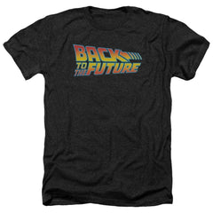 Back To The Future Logo Adult Regular Fit Heather T-Shirt