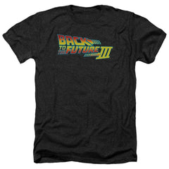 Back To The Future Iii Logo Adult Regular Fit Heather T-Shirt