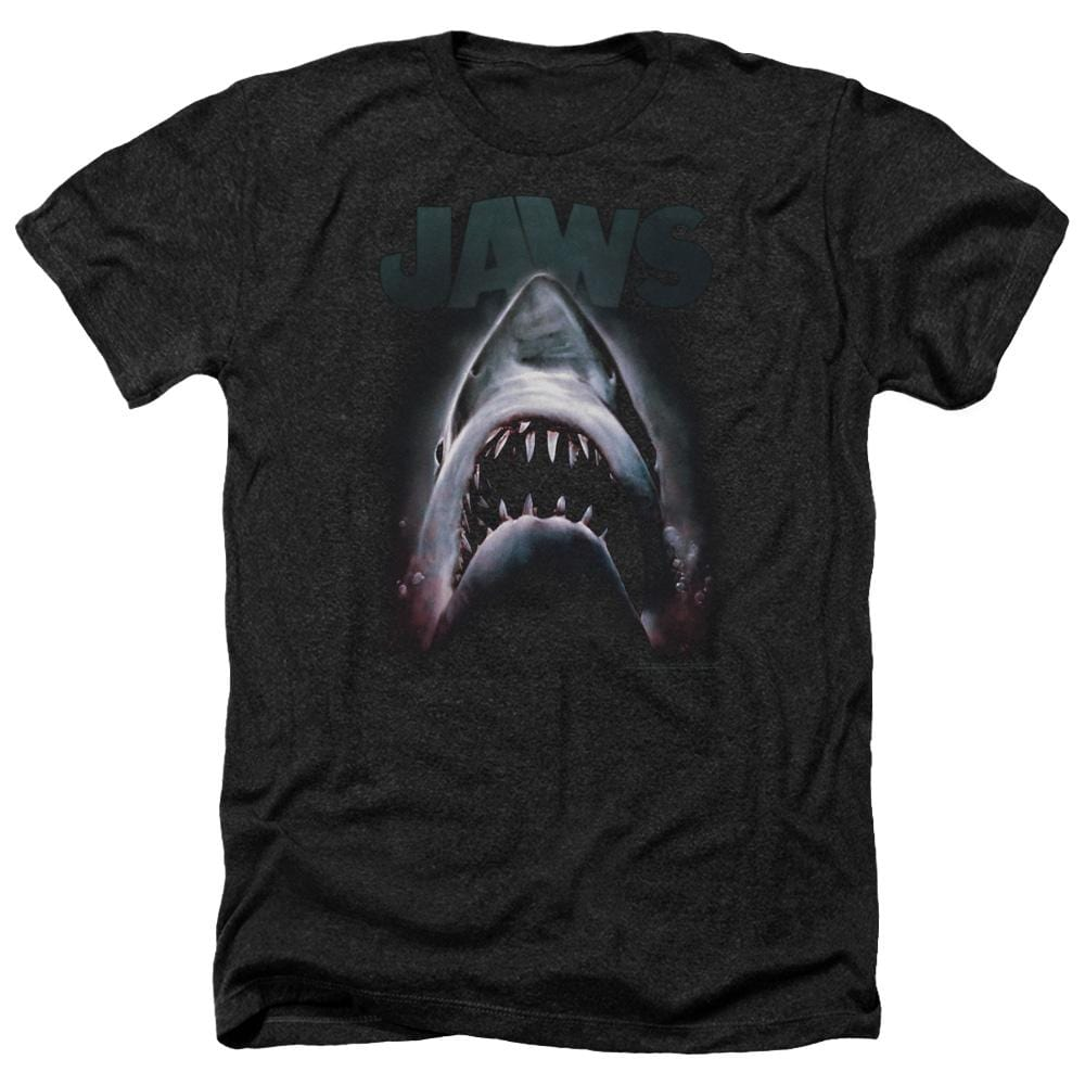 Jaws Terror In The Deep Adult Regular Fit Heather T-Shirt