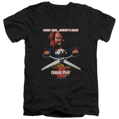 Childs Play 2 - Chuckys Back Adult V-Neck T-Shirt