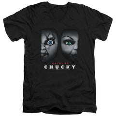 Bride Of Chucky - Happy Couple Adult V-Neck T-Shirt