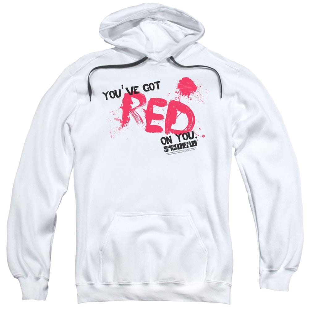 Shaun Of The Dead Red On You Adult Pull-Over Hoodie