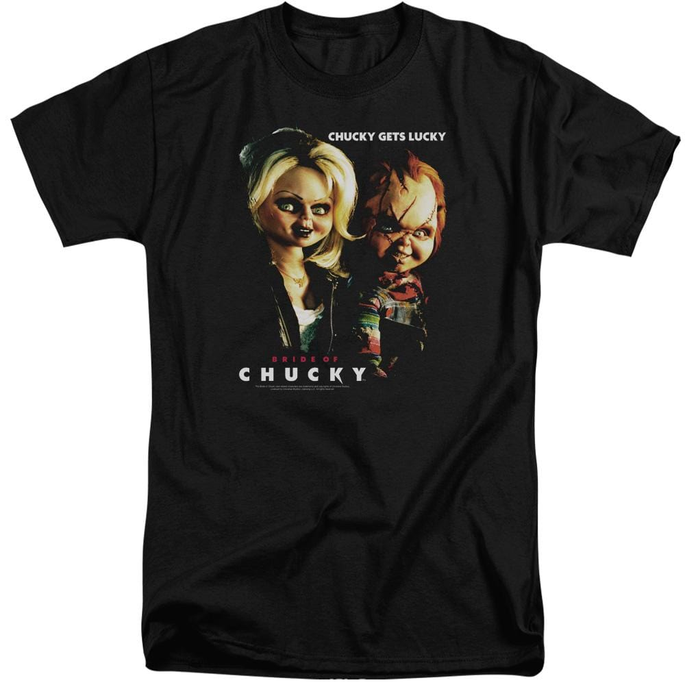 Bride Of Chucky Chucky Gets Lucky Adult Tall Fit T-Shirt