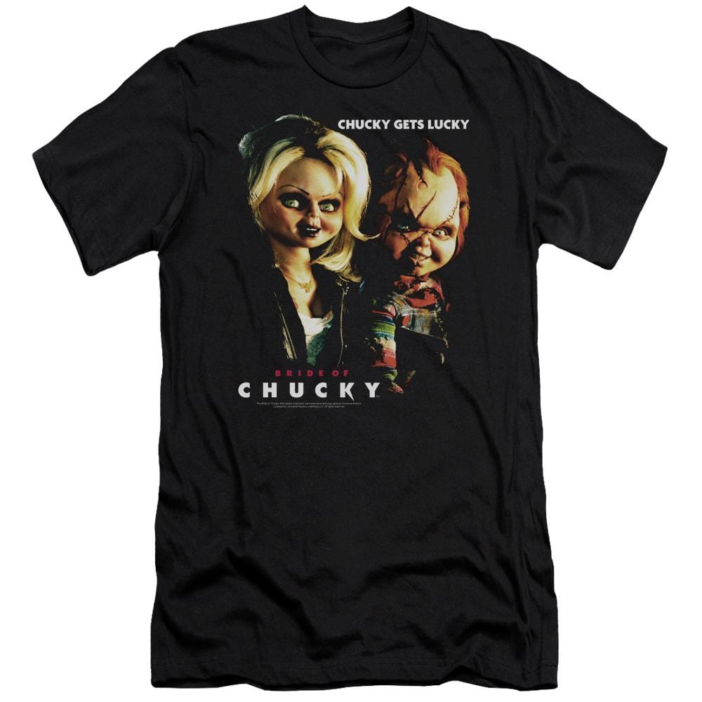 Bride Of Chucky Chucky Gets Lucky Premium Adult Slim Fit T-Shirt