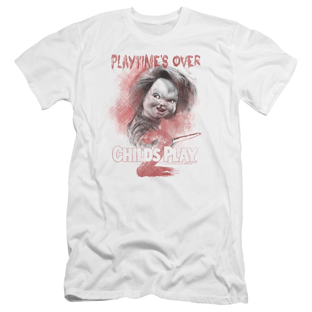 Childs Play 2 Playtimes Over Premium Adult Slim Fit T-Shirt