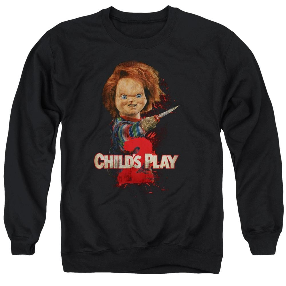 Child's Play 2 - Heres Chucky Adult Crewneck Sweatshirt
