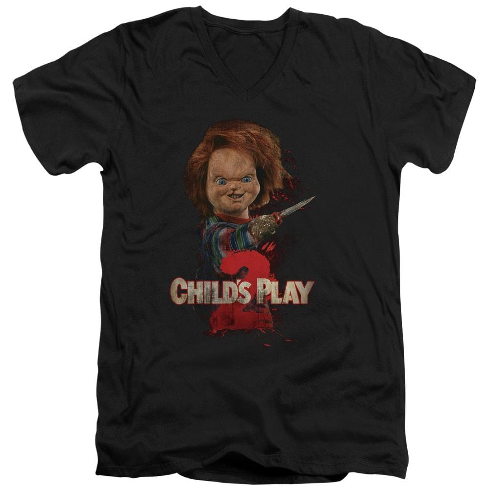Childs Play 2 - Heres Chucky Adult V-Neck T-Shirt
