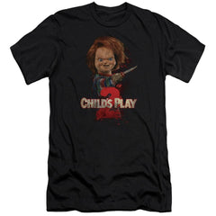 Childs Play 2 Heres Chucky Premium Adult Slim Fit T-Shirt