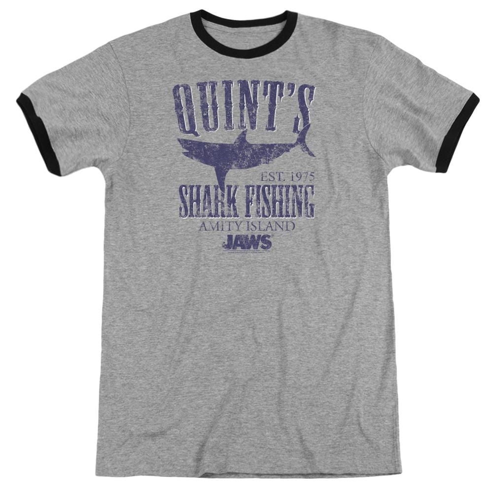 Jaws - Quints Adult Ringer T- Shirt