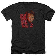 Childs Play 2 In Heaven Adult Regular Fit Heather T-Shirt