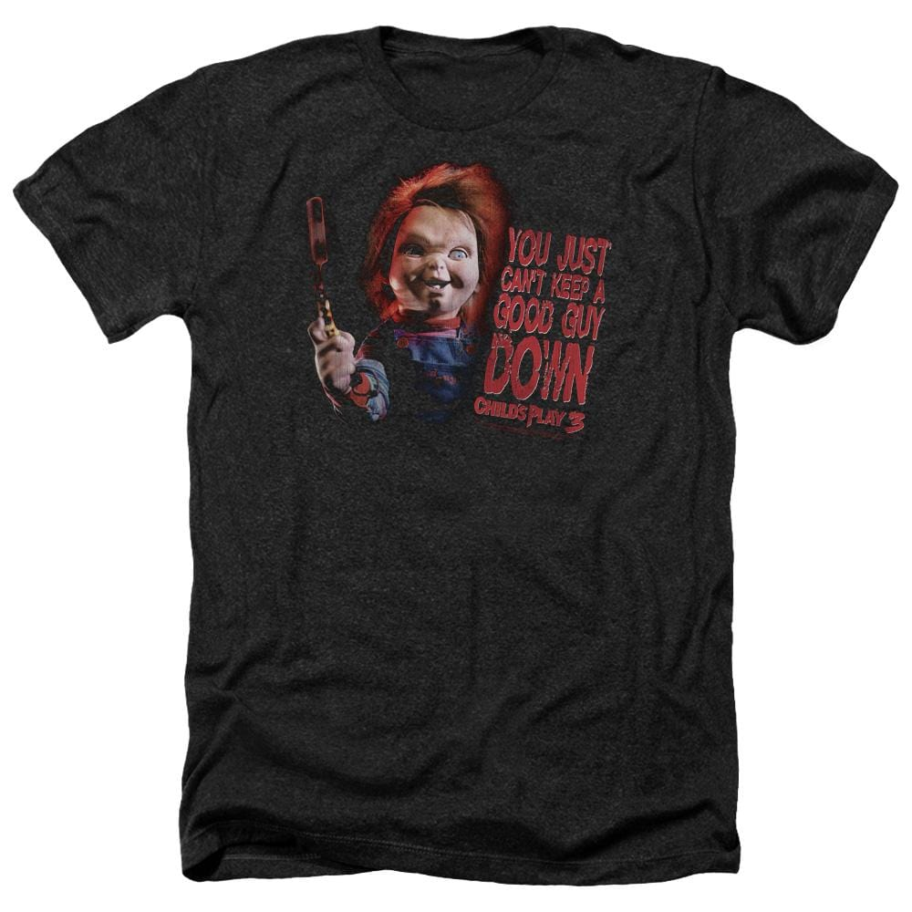 Childs Play 3 Good Guy Adult Regular Fit Heather T-Shirt