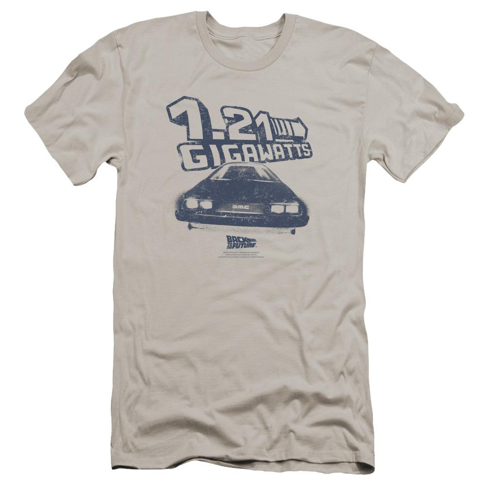 Back To The Future Gigawatts Premium Adult Slim Fit T-Shirt