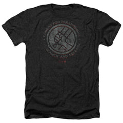 Hellboy Ii Bprd Stone Adult Regular Fit Heather T-Shirt