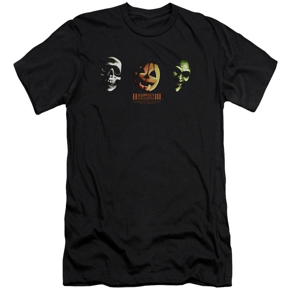 Halloween Iii Three Masks Premium Adult Slim Fit T-Shirt