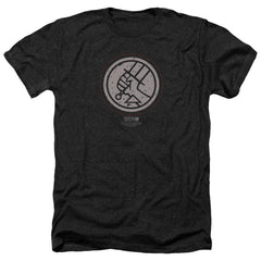 Hellboy Ii Mignola Style Logo Adult Regular Fit Heather T-Shirt