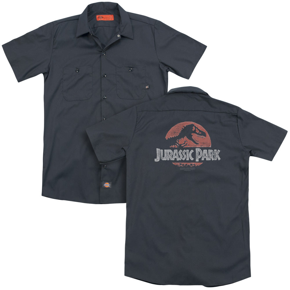 Jurassic Park Faded Logo Adult Work Shirt