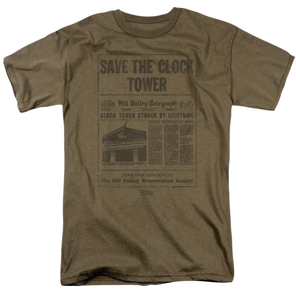 Back To The Future Clock Tower Adult Regular Fit T-Shirt
