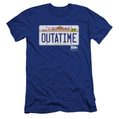 Back To The Future Outatime Plate Premium Adult Slim Fit T-Shirt