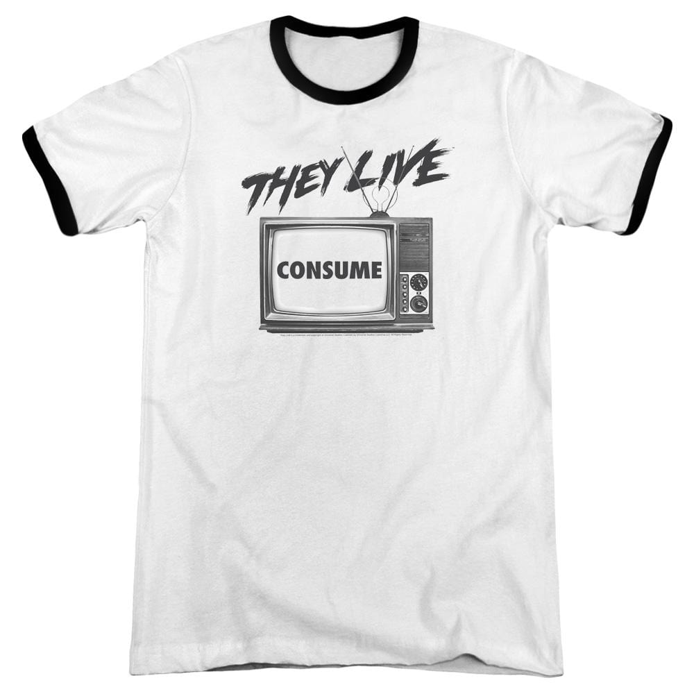 They Live - Consume Adult Ringer T- Shirt