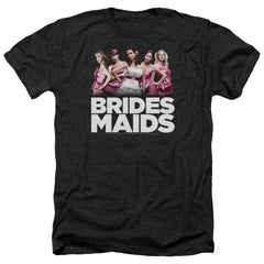 Bridesmaids Maids Adult Regular Fit Heather T-Shirt