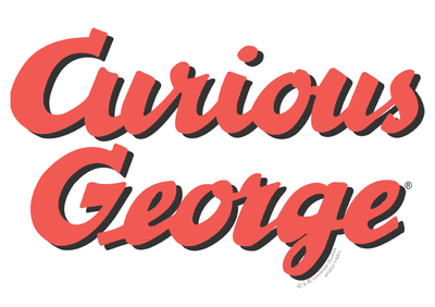 Curious George Logo Men's Regular Fit T-Shirt