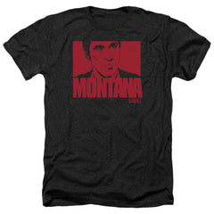 Scarface Montana Face Adult Regular Fit Heather T-Shirt