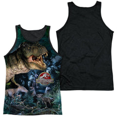 Jurassic Park - Dinos Gather Adult Tank Top