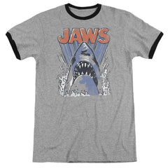 Jaws - Comic Splash Adult Ringer T- Shirt