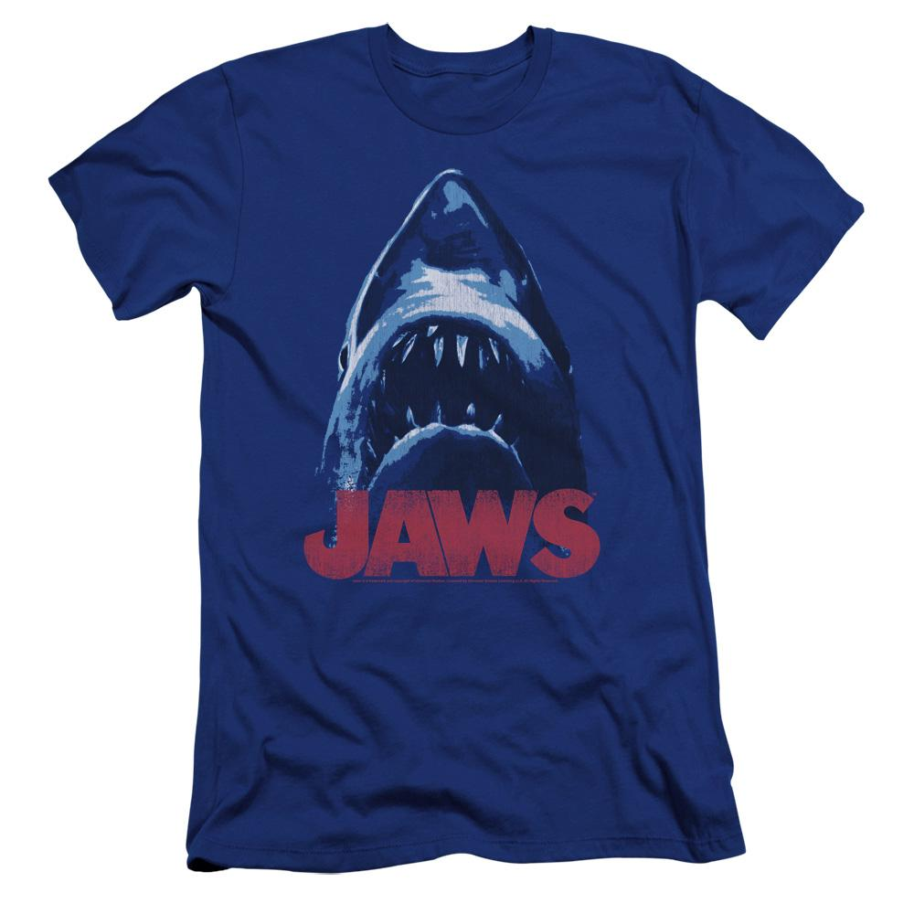 Jaws From Below Premium Adult Slim Fit T-Shirt
