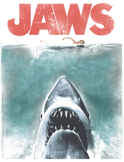 Jaws Vintage Poster Men's Regular Fit T-Shirt