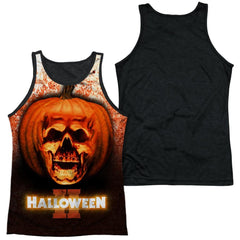 Halloween Ii - Pumpkin Skull Adult Tank Top