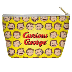 Curious George - Heads Tapered Bottom Pouch