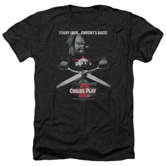 Childs Play 2 Jack Poster Adult Regular Fit Heather T-Shirt