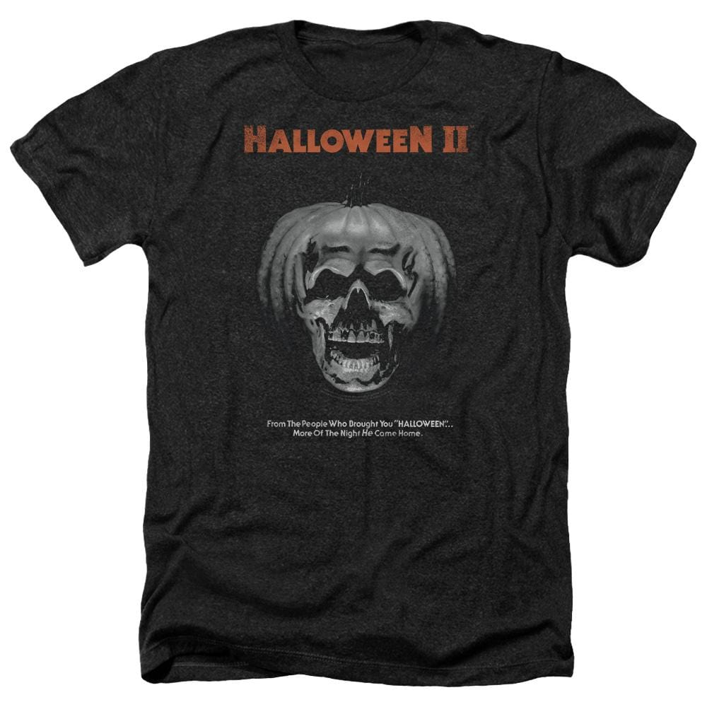 Halloween Ii Pumpkin Poster Adult Regular Fit Heather T-Shirt