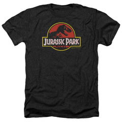 Jurassic Park Classic Logo Adult Regular Fit Heather T-Shirt