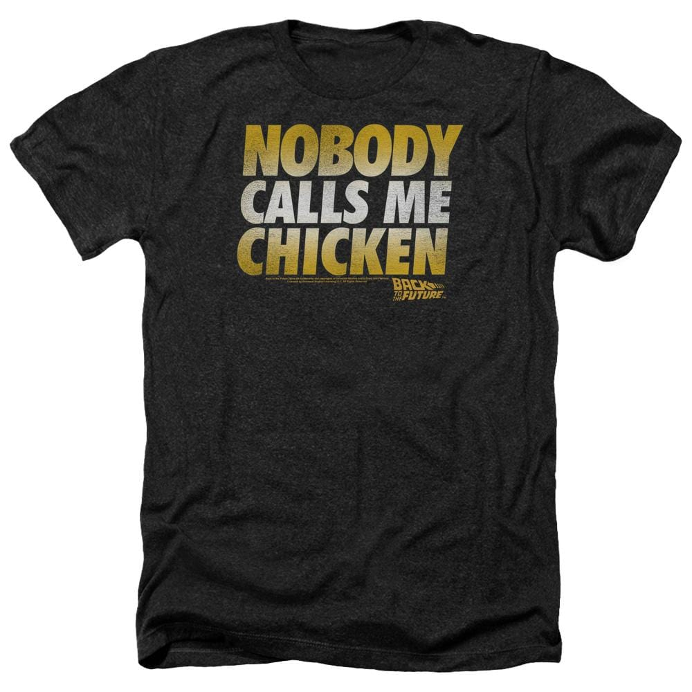 Back To The Future Chicken Adult Regular Fit Heather T-Shirt