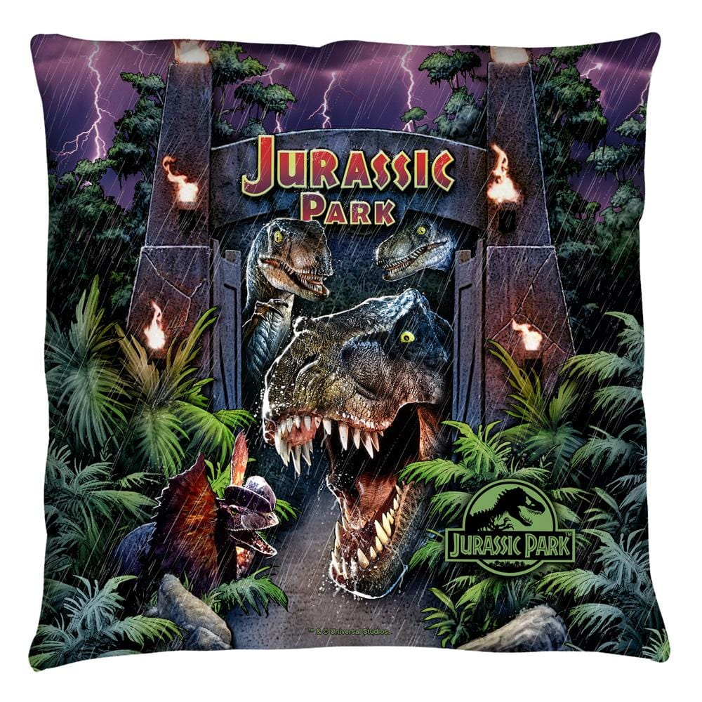 Jurassic Park - Welcome To The Park Throw Pillow