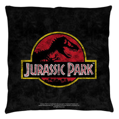 Jurassic Park - Classic Logo Throw Pillow