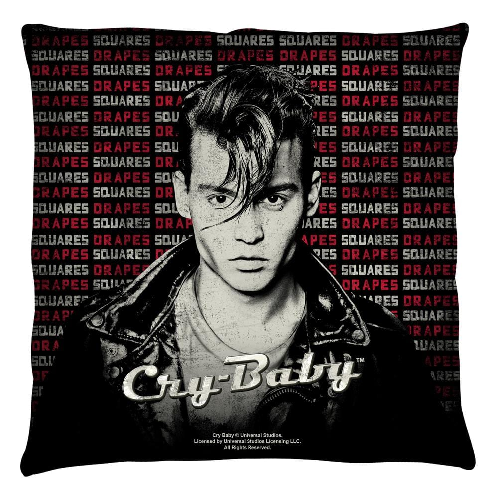 Cry Baby - Drapes And Squares Throw Pillow