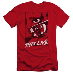 They Live Graphic Poster Premium Adult Slim Fit T-Shirt