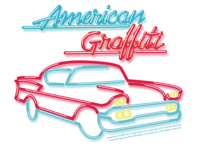 American Graffiti Neon Men's Slim Fit T-Shirt