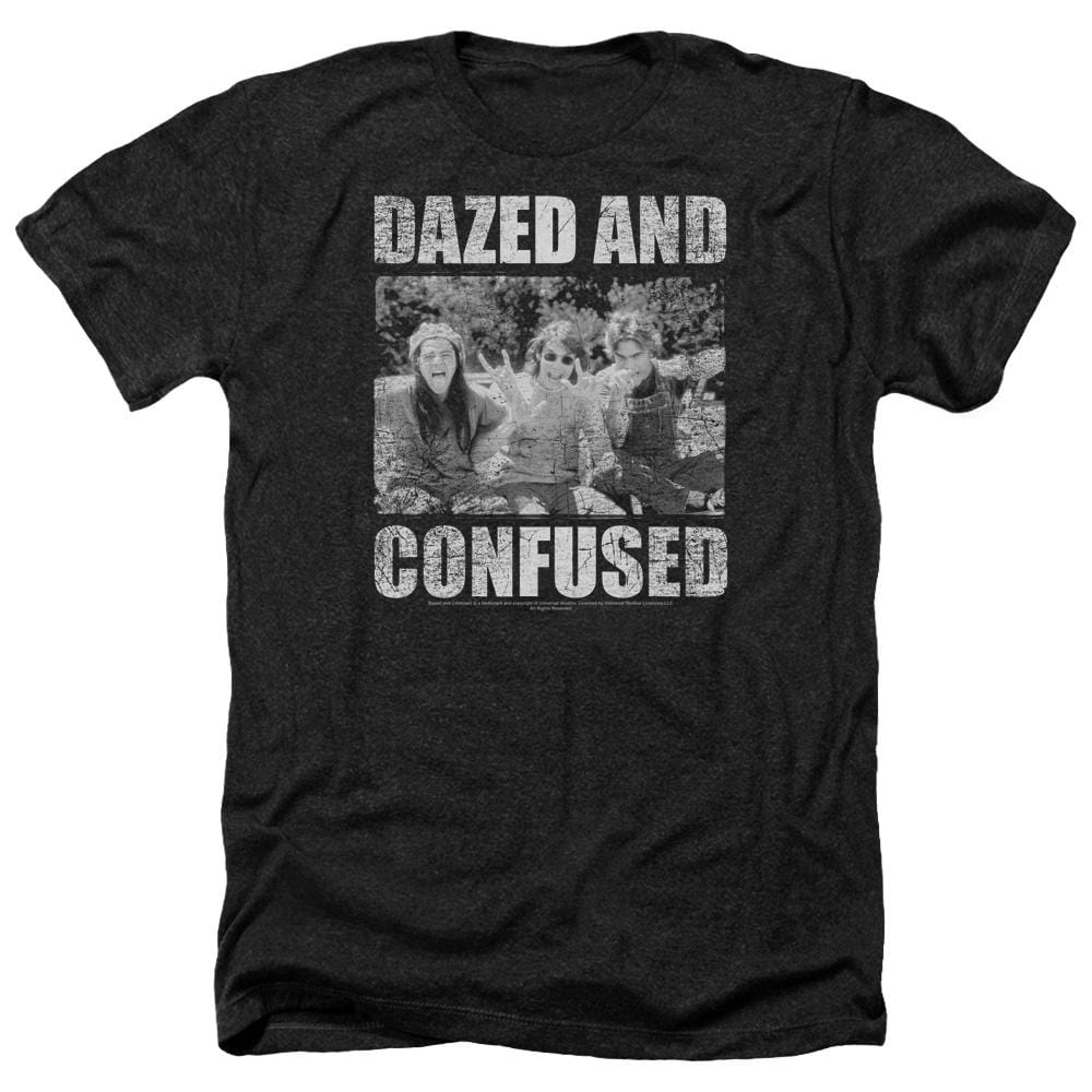 Dazed And Confused Rock On Adult Regular Fit Heather T-Shirt