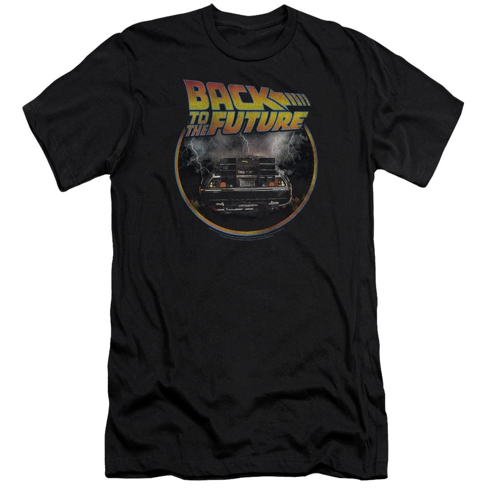 Back To The Future Back Premium Adult Slim Fit T-Shirt
