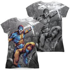 Xo Manowar Warmonger Junior All Over Print 100% Poly T-Shirt